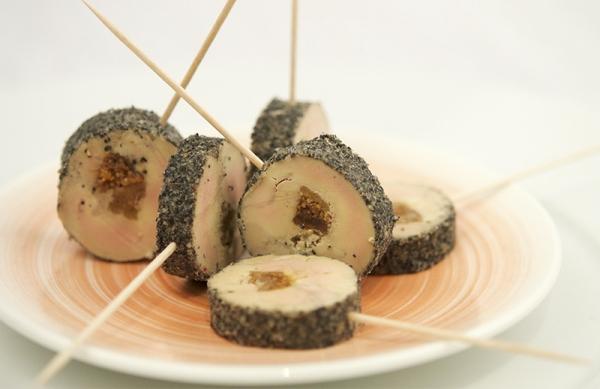 Sucettes de foie gras mi-cuit : anguille fumée ou nature