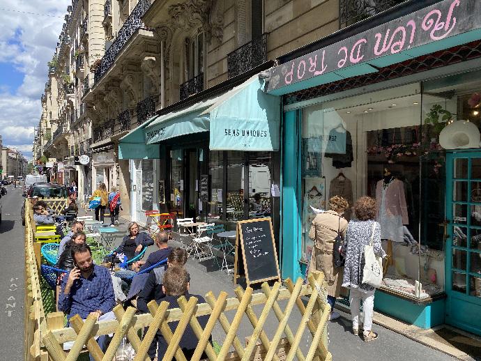 Restaurant SensUniques Paris Terrasse #1